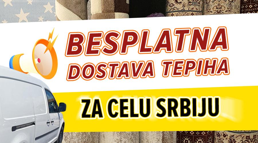 Besplatna dostava tepiha na teritoriji Srbije